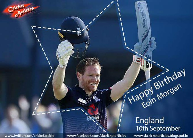 Happy Birthday to England ODI & T20 captain Eoin Morgan.