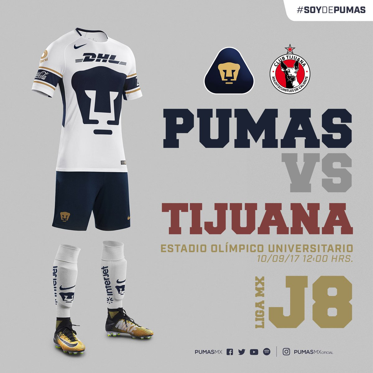 "Soccer News  Club Universidad Nacional of Liga MX went "" ... 0920dcf7f"