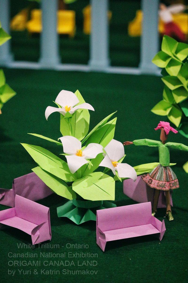 Oribana Art On Twitter Showcasing Origami Flowers Of Canada150
