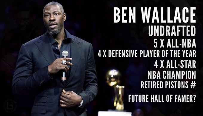 Happy Birthday to 4x NBA Defensive Player of the year Ben Wallace!  Big Ben Documentary: