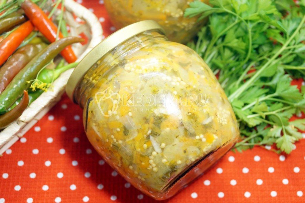 Салат на зиму с фасолью