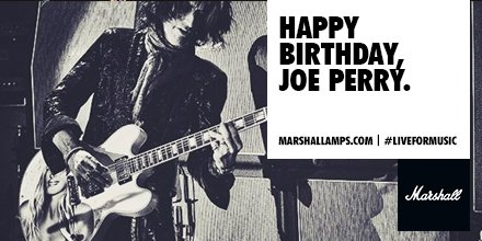Happy birthday to Aerosmith six-stringer, Joe Perry