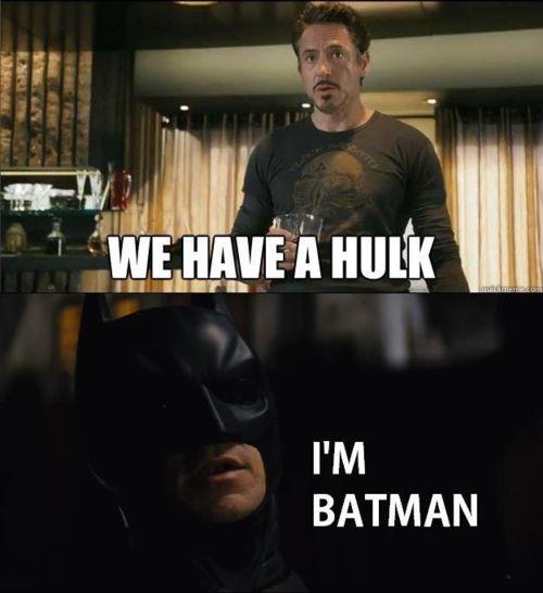 In my universe #Batman beats #Hulk <br>http://pic.twitter.com/CEAoxCAXIB