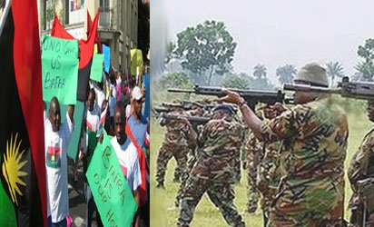 Breaking(Video): Nigerian army invade Kanu's home, allegedly shoot IPOB supporter  press    https://t.co/HQCvY59YQ0