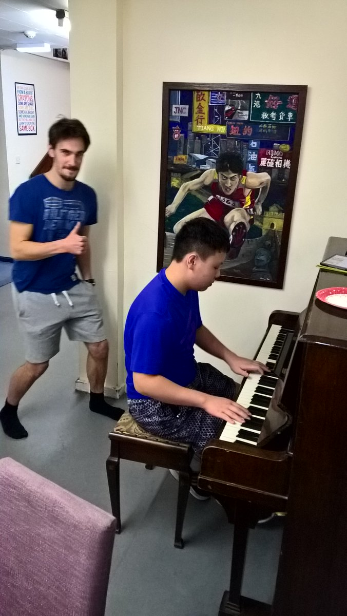 House on the piano