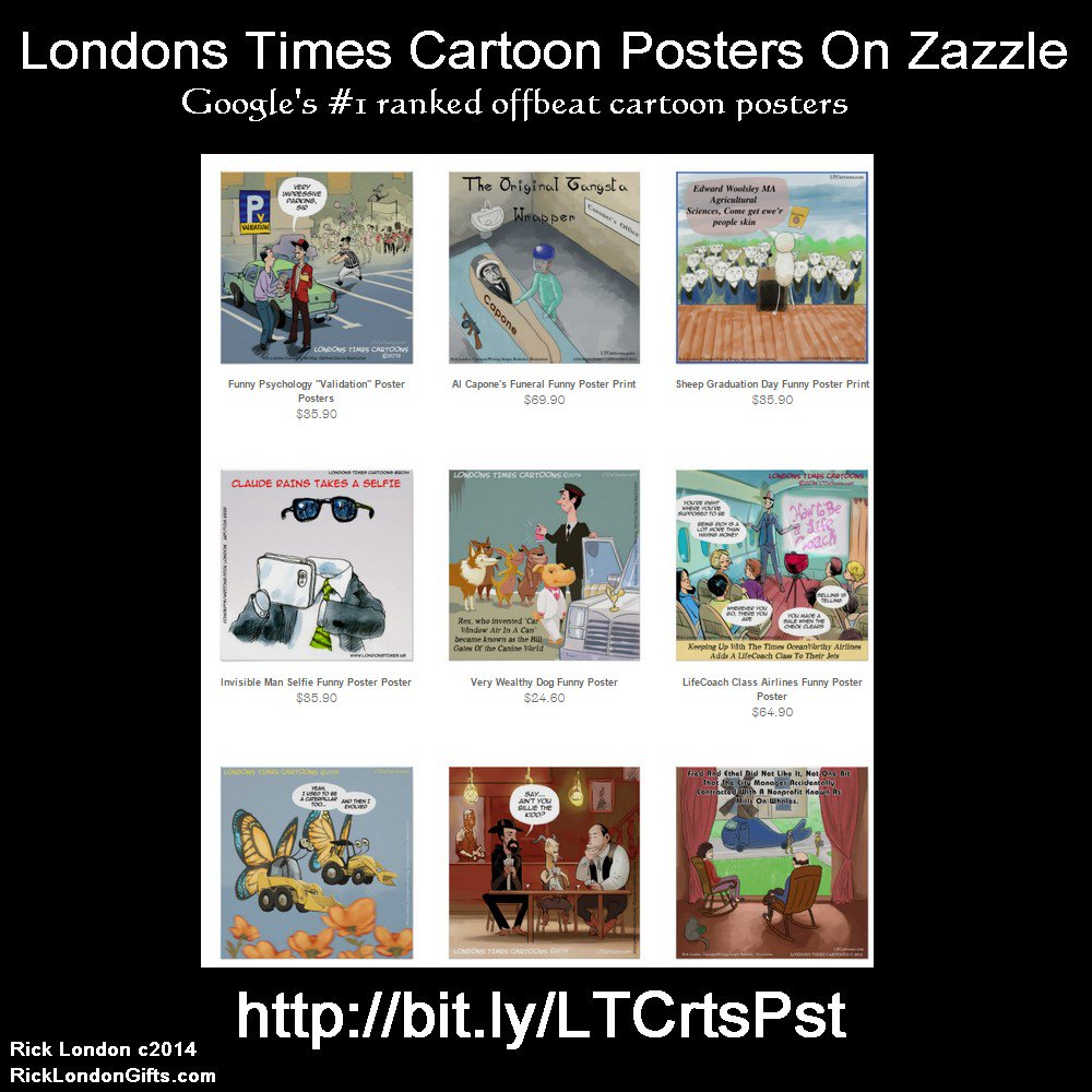 #Sale All Google #1 ranked @LTCartoons #Comic #Posters @zazzle #humor #wallart #art #decor <br>http://pic.twitter.com/pBF75kfIAf  http:// bit.ly/LTCrtsPst  &nbsp;