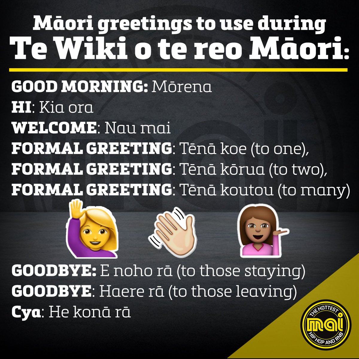 Mai fm on twitter its maori language week heres some handy mai fm on twitter its maori language week heres some handy words and phrases to drop into your conversations tewikiotereomaori m4hsunfo