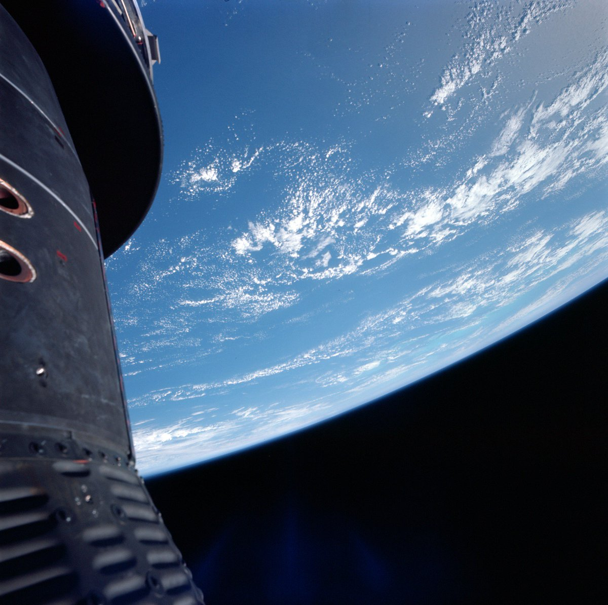 Looking at earth picture