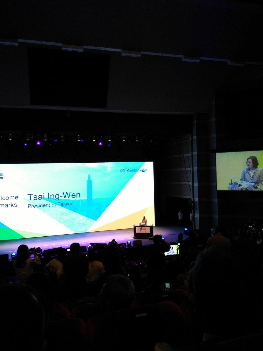 Taiwan president Tsai Ing-Wen opens #WCIT 2017. But where are the people from/for #civictech?<br>http://pic.twitter.com/Dm9f5xyZJe