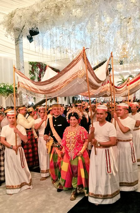 Resepsi pernikahan Putri Selaras dan Danindro Arionindito.