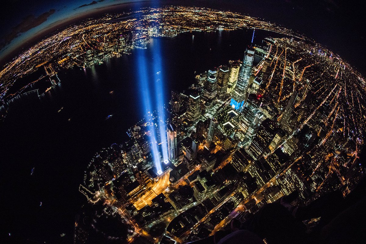 My aerial photo of the 9/11 #TributeInLight taken thanks to @FlyNyon. A day i will never forget. #September11 #NYC<br>http://pic.twitter.com/hVJ6rhw7uO
