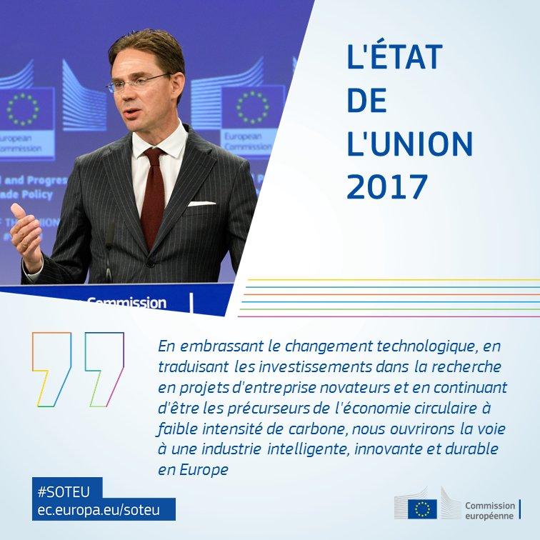 'Nous ouvrirons la voie à une #industrie intelligente, innovante et durable en Europe' @jyrkikatainen #SOTEU >> https://t.co/bnTSzvU5WB