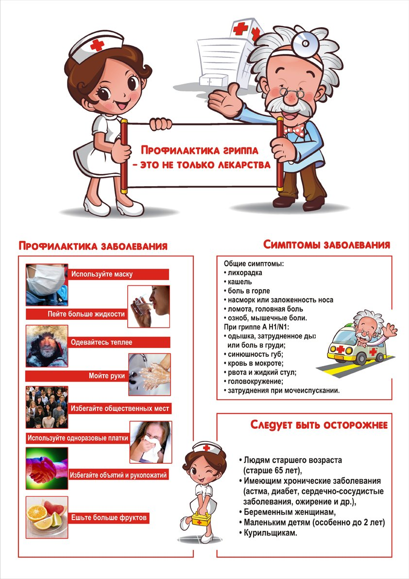 Картинках юбилеем, открытка профилактика гриппа