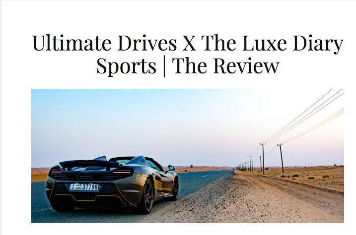 All #supercar lovers in #dubai, check this amazing desert drive with us by @the_luxe_diary in a #Mclaren 🛣️🚗 https://t.co/8Udg6d8Tz6 https://t.co/ufywnDlPSR