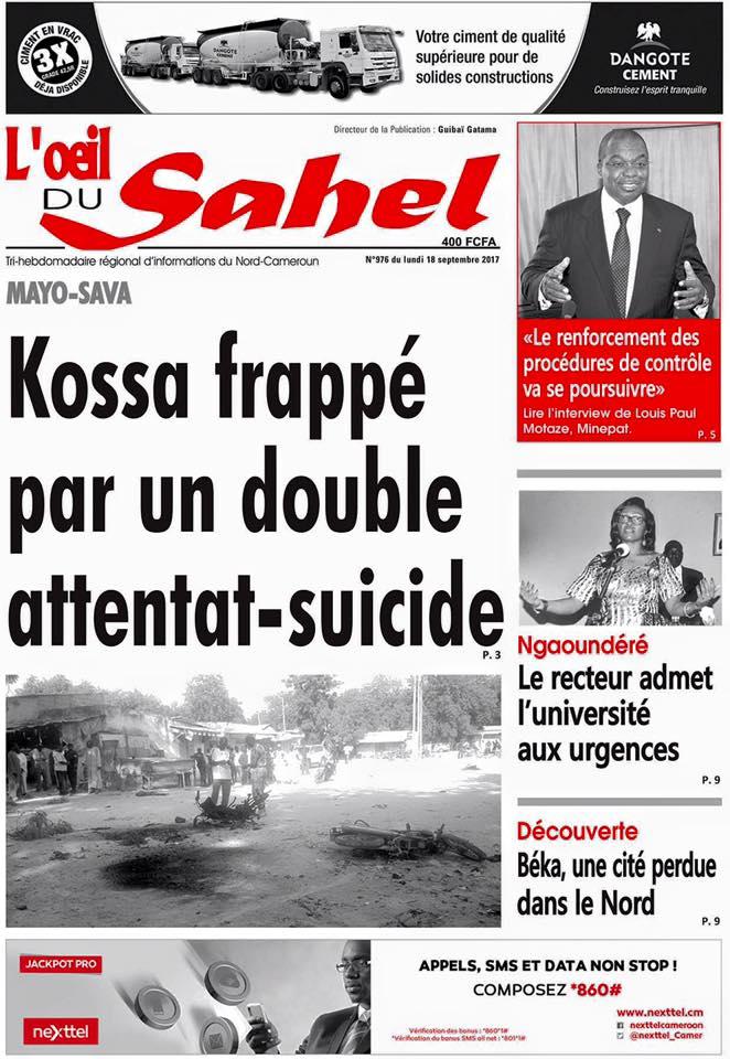 Your today&#39;s #Headlines. Votre #Une du jour. 18.09.17 <br>http://pic.twitter.com/p6iStcCtre