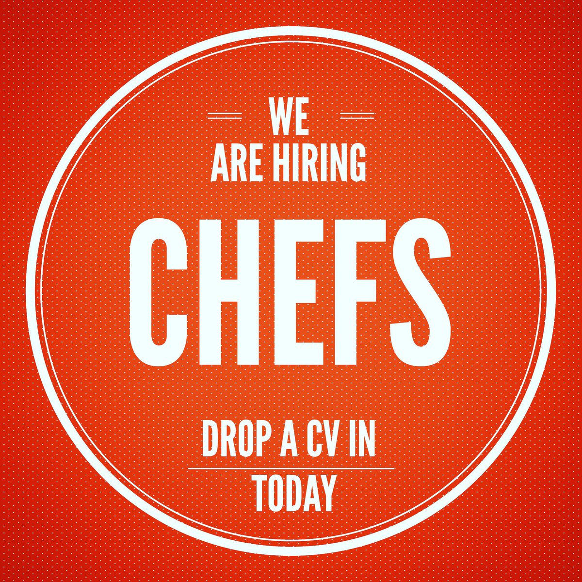 Chefs looking for work