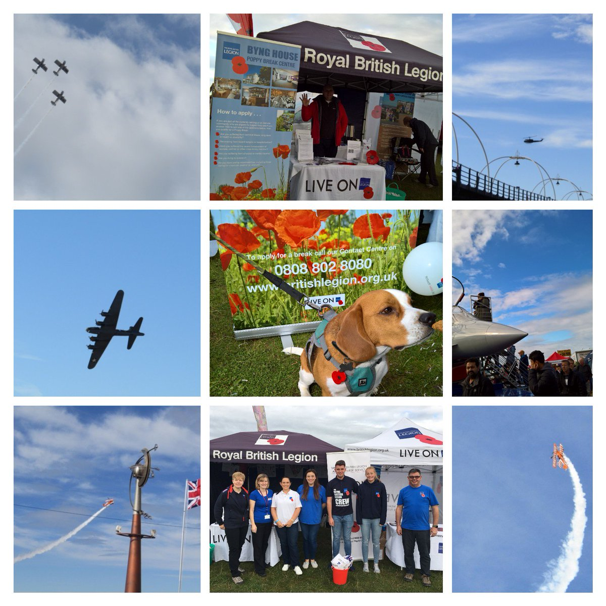 Thank you to everyone that came to visit us at the Air Show. #bynghouse #southportairshow #royalbritishlegion #poppydog #poppybreak #poppy<br>http://pic.twitter.com/OOnwKjxJ9Q