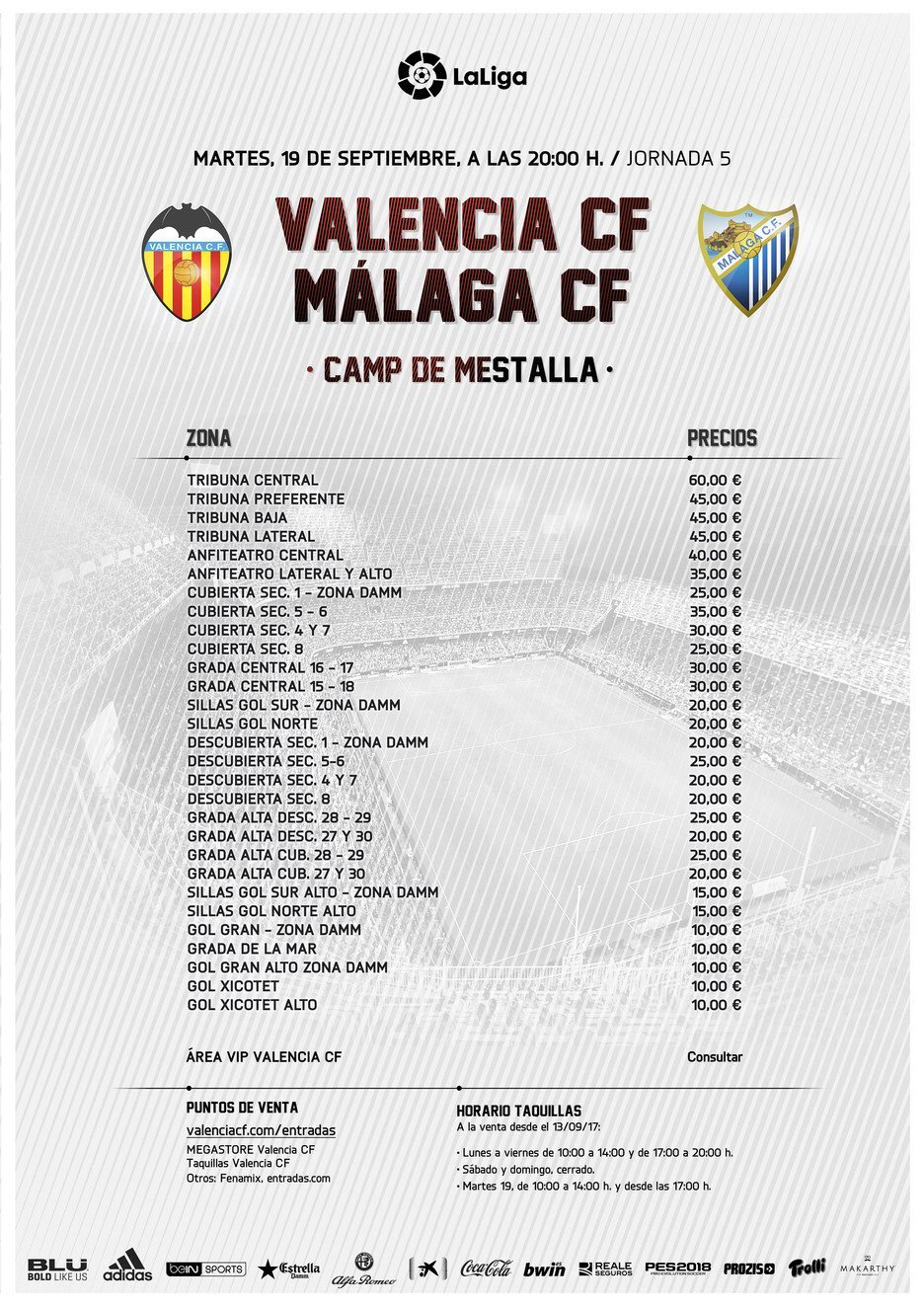 LIGA J5ª: VALENCIA CF vs MALAGA CF (Mar 19 Sep 20:00 / BeinSport) DJ_c_uOU8AAths3
