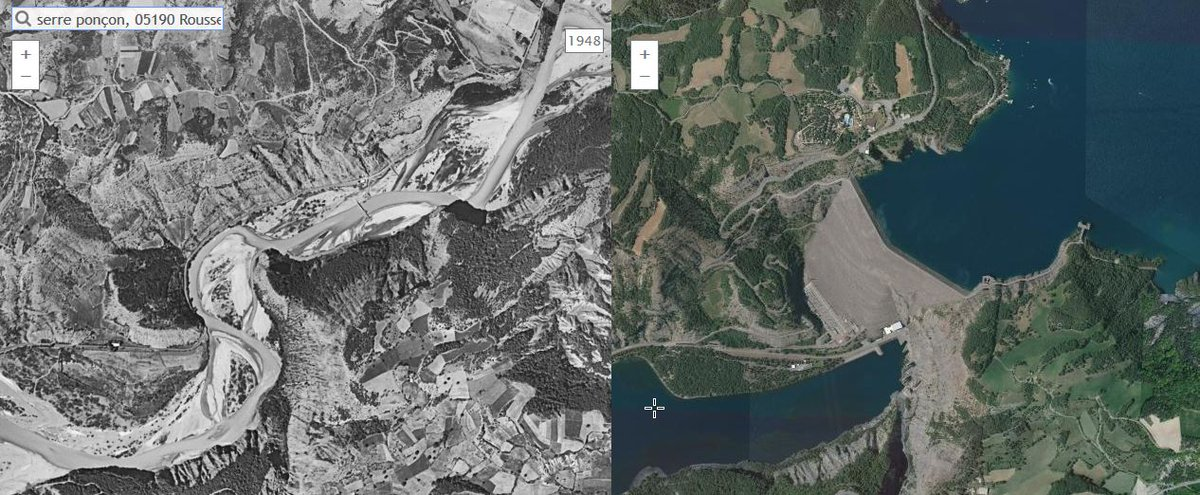 Remonter le temps  http:// remonterletemps.ign.fr/comparer/basic ?x=6.271975&amp;y=44.471218&amp;z=15&amp;layer1=ORTHOIMAGERY.ORTHOPHOTOS.1950-1965&amp;layer2=ORTHOIMAGERY.ORTHOPHOTOS&amp;mode=doubleMap &nbsp; …  #histoire #passé #cartographie <br>http://pic.twitter.com/sblsenfNKH