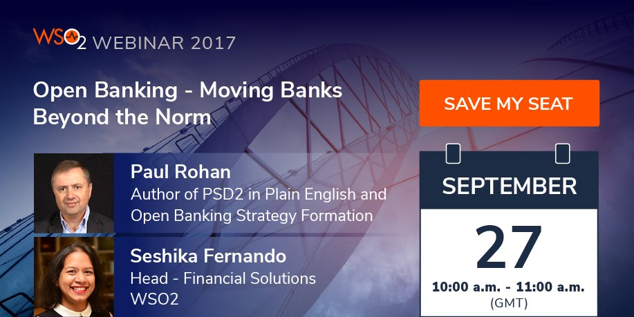 How #business and #technical #architecture should adapt for an #openbanking victory. @paulrohan joins us next week  http:// bit.ly/2h36Hn6  &nbsp;  <br>http://pic.twitter.com/zsko0Rz5Xm