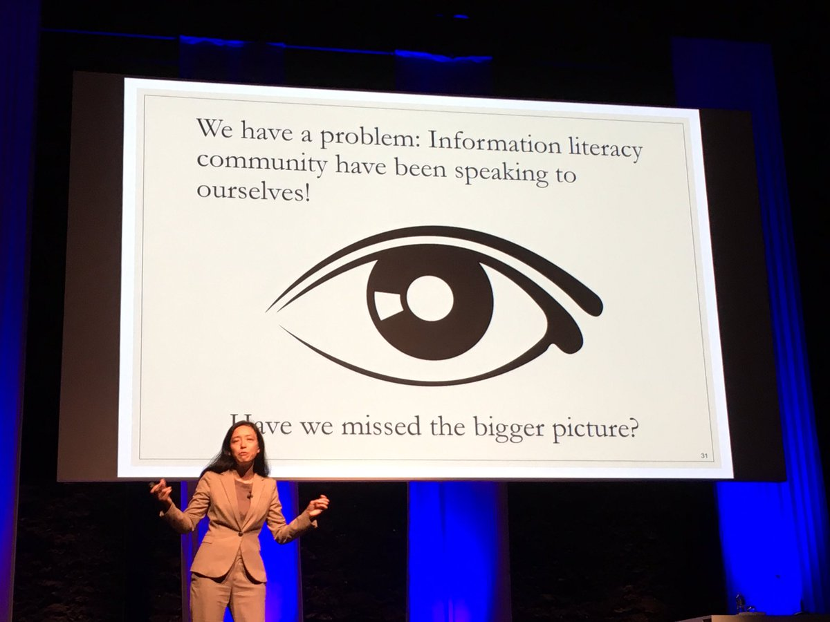 Bonnie Cheuk giving keynote. This is a very valid question! Why people just dont&#39;t get this #Informationliteracy #infolit? #ecil2017<br>http://pic.twitter.com/pecYgb46jd