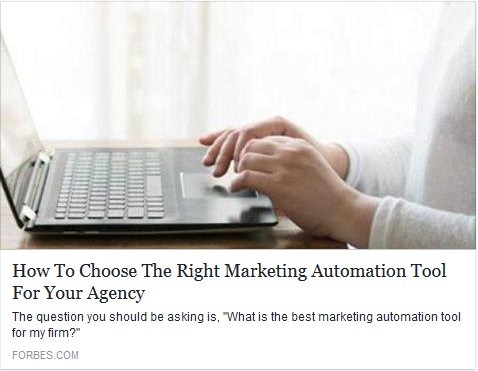 How To Choose The Right #MarketingAutomation Tool For Your Agency  https:// lnkd.in/fEJ-qVr  &nbsp;    @Forbes #MarketingTech<br>http://pic.twitter.com/pYN9hP7IYw