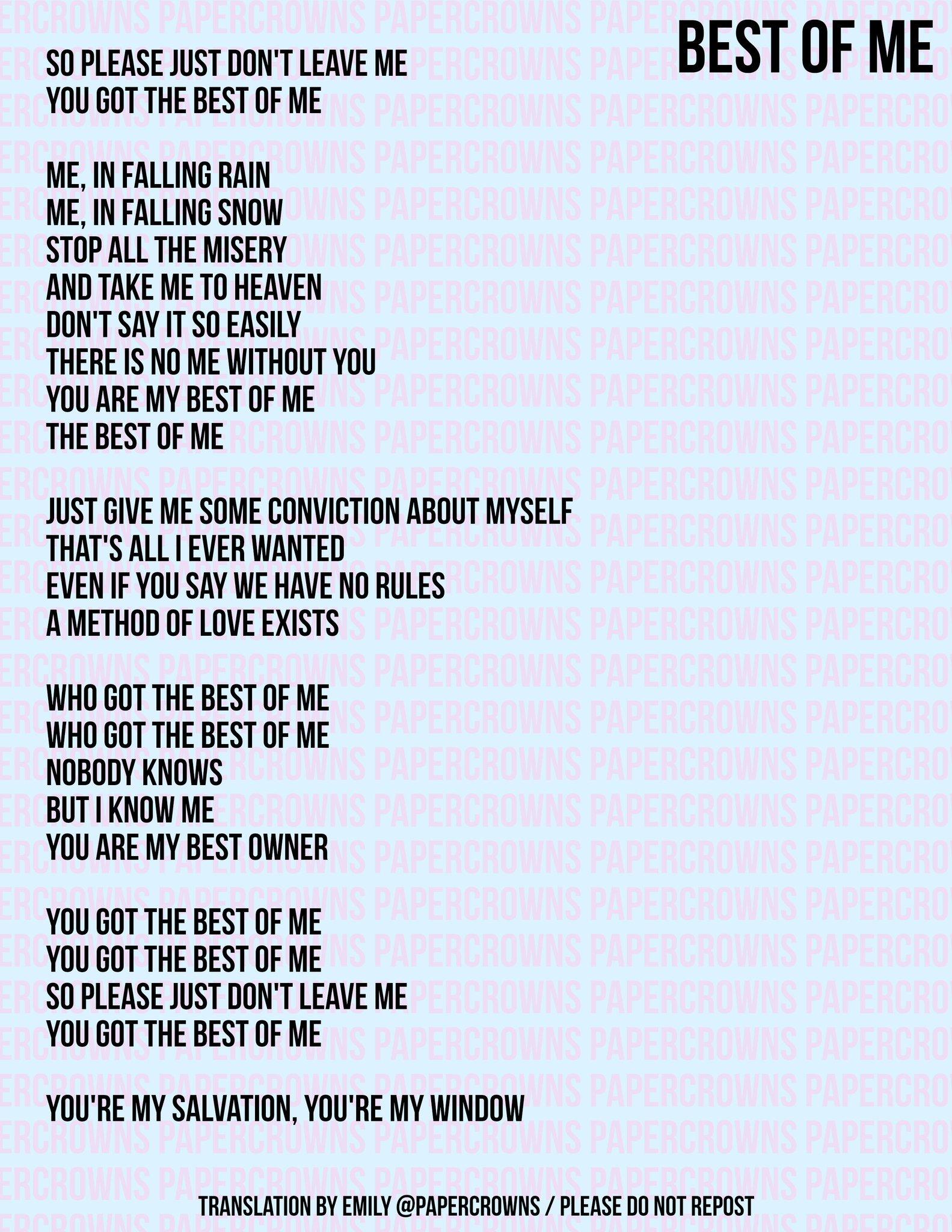 bts best of me lyrics english