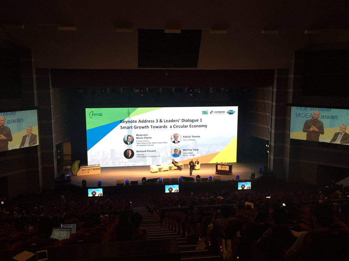 At @wcit2017 @bertrandpiccard speaking about the #energy revolution #science #greene energy #wcit #taipei<br>http://pic.twitter.com/gL4vAOmA6V