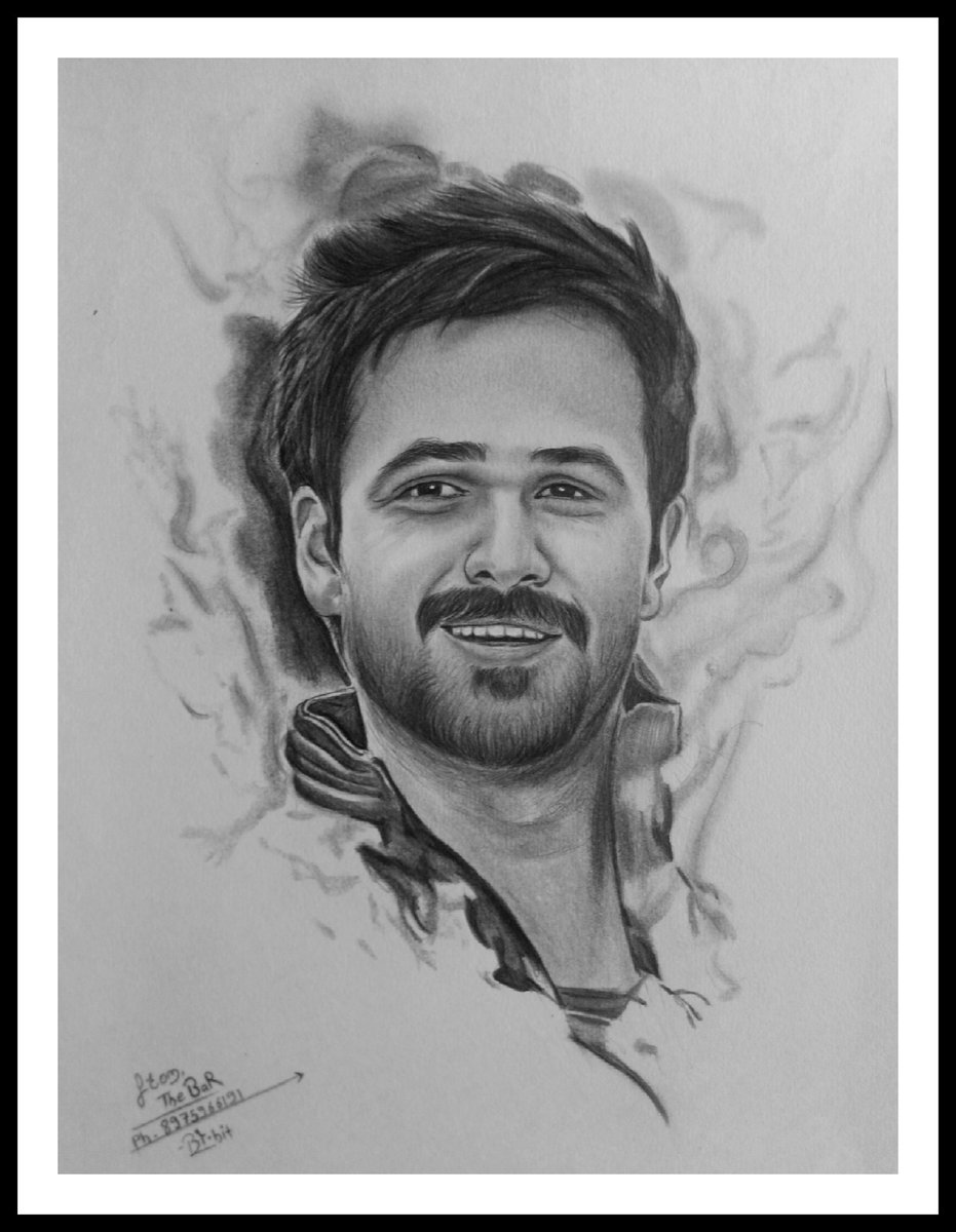 Pencil sketch portrait of emraanhashmi bollywood actor picoftheday photooftheday emraanhashmipic twitter com yrb4io4rhi