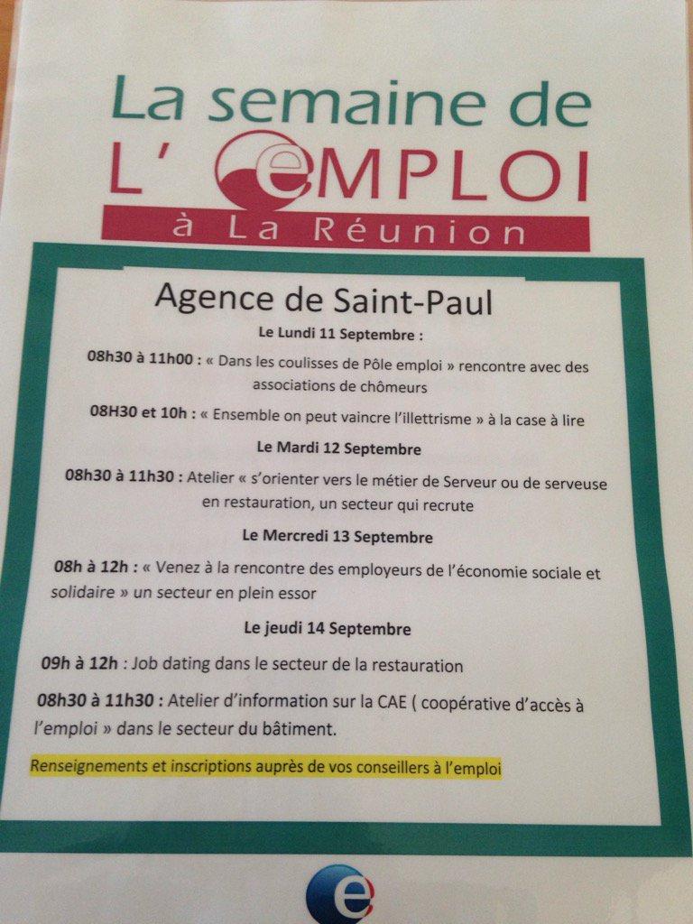 emploi rencontre Saint Paul