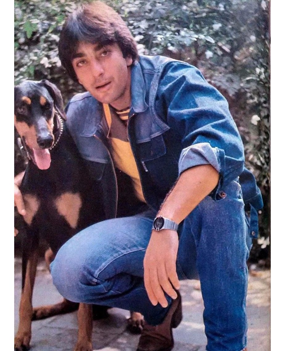 """Movies N Memories on Twitter: """"Young Sanjay Dutt during ..."""