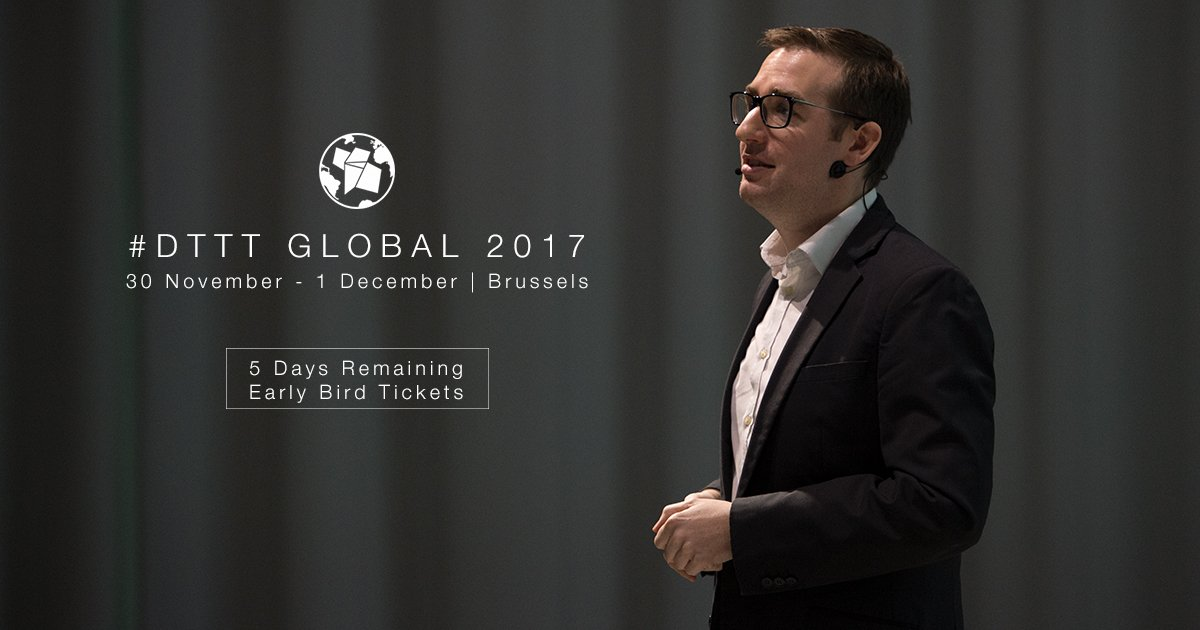 Be quick and book your seat at #DTTTGlobal by the end of the week ! Special price for ECM guests via special code. See you in Brussels !