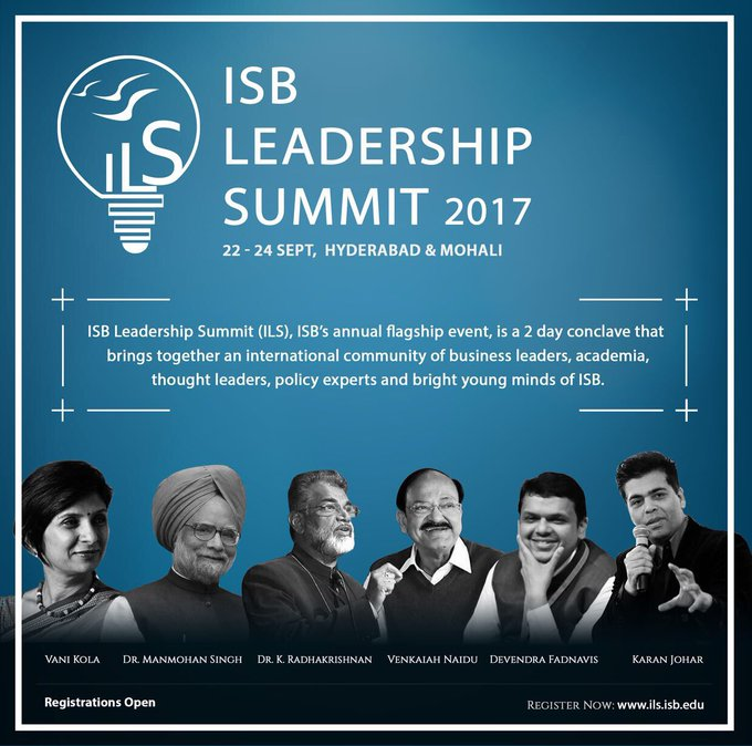 Honoured and excited to be a part of the ISB Leadership Summit this month.... https://t.co/ahArnP3Ifu