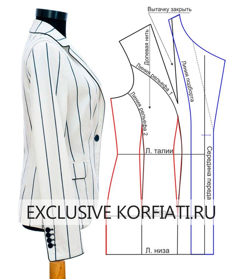 Выкройка трикотажного платья с рукавами