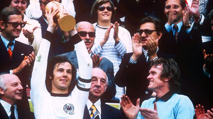 Happy 72nd birthday to Franz Beckenbauer! The only man to lift the as both a player and manager!