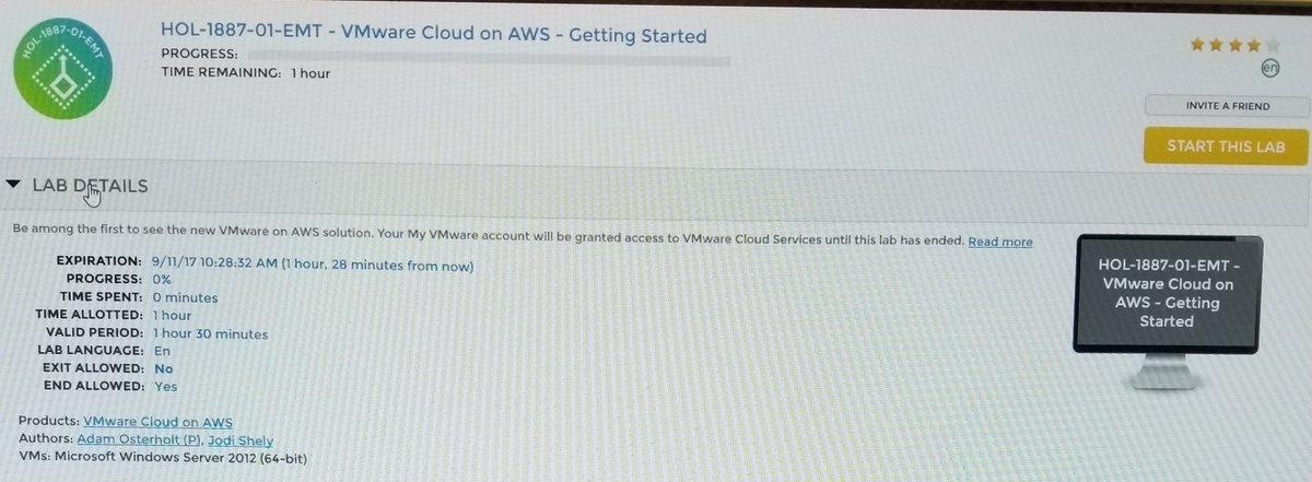 VMware Hands-on Labs on Twitter: