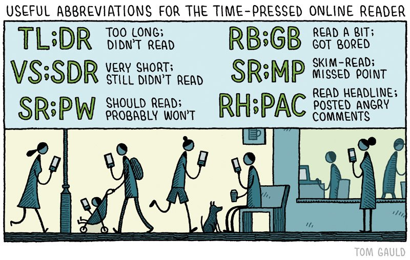 Tom Gauld On Twitter Useful Abbreviations For The Time Pressed