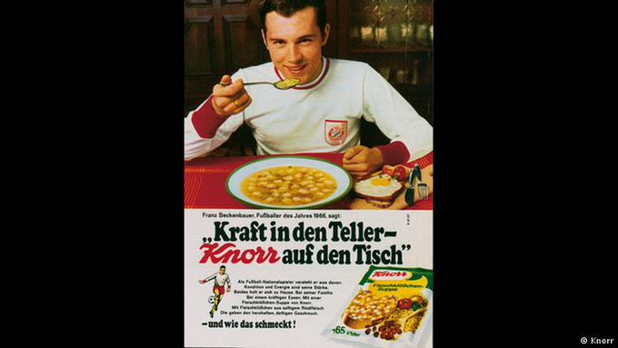 Happy 7 2 Birthday, Franz Beckenbauer!  Famous for various titles... and an everlasting soup commercial!