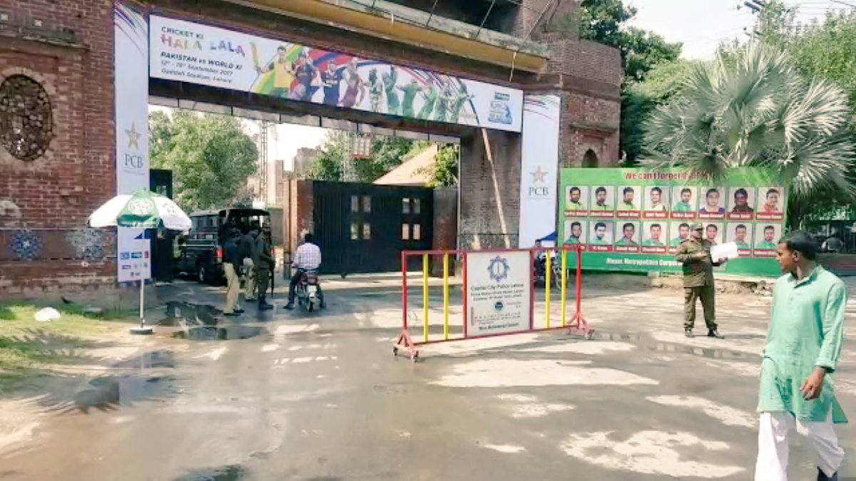 All set in Lahore for #PAKvWXI series. #CricektKiHalalala <br>http://pic.twitter.com/CsIUcoSAAt