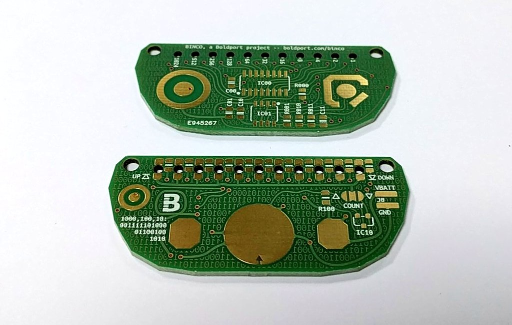 BINCO protos are here from @eC_PCB! #BoldportClub