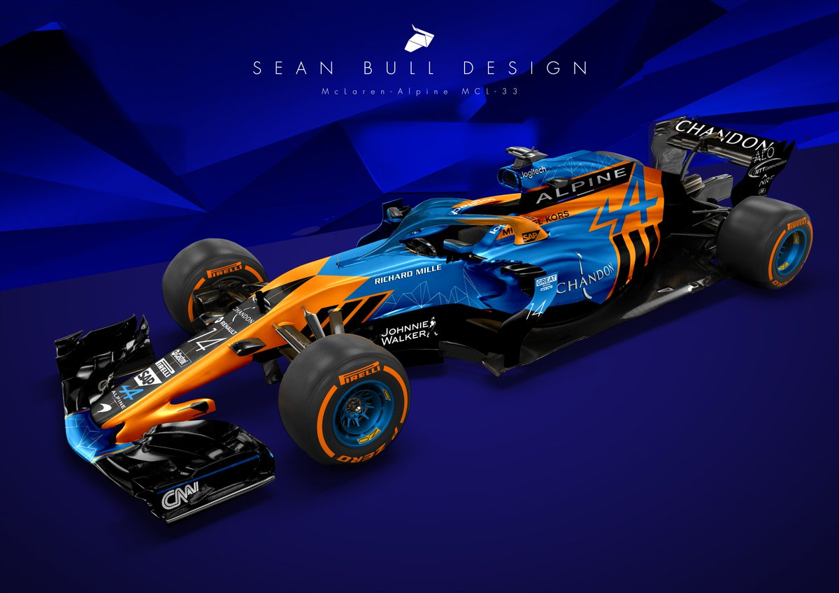 sean bull design on twitter re badged renault engined mclarenf1 alpine 2018 livery concept. Black Bedroom Furniture Sets. Home Design Ideas