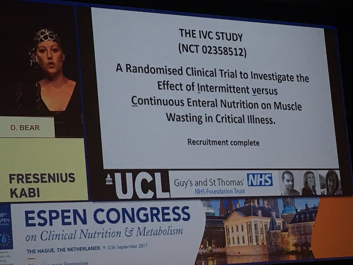#espen2017 news: @danni_dietitian to begin a study comparing intermittent v continuous feeding .... looking forward to reading about outcome <br>http://pic.twitter.com/iwXUMg9OKF