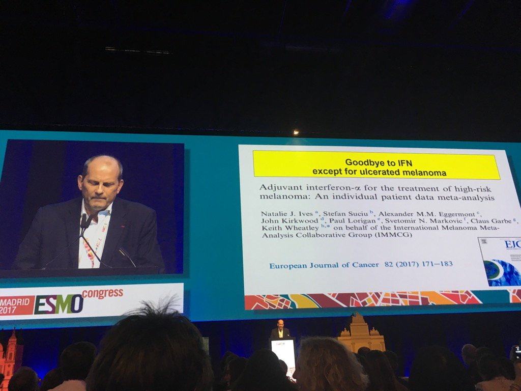 Never thought I&#39;d see the day: Lex Eggermont says goodbye to Interferon #esmo2017 <br>http://pic.twitter.com/jFSBaMUwPd