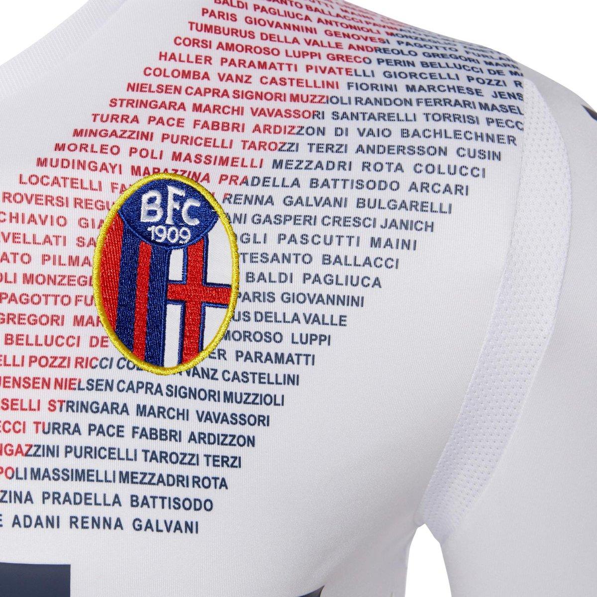 Bolonya yeni səfər formasına klubda ən çox oyun keçirən 100 futbolçunun adını həkk etdi (foto)