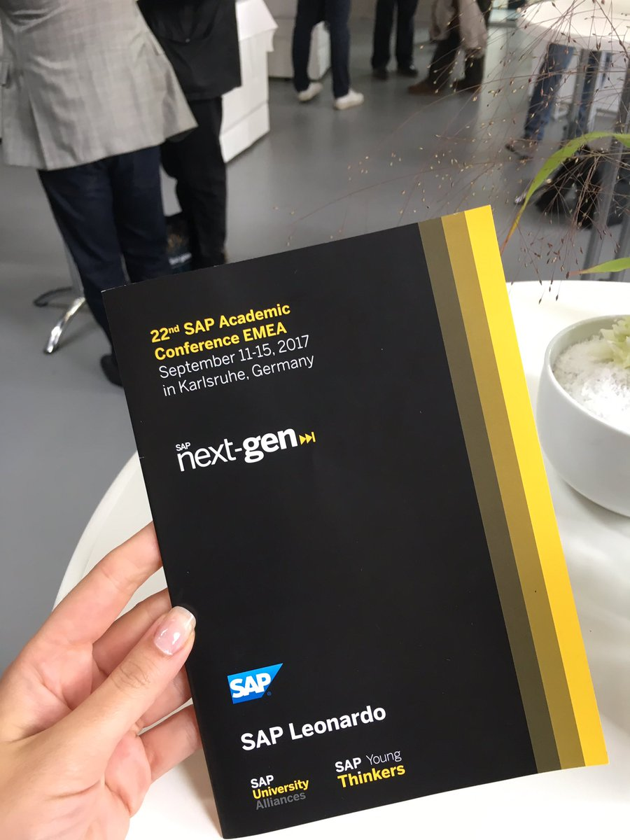 Getting ready for the big SAP Academic Conference #uaac17 @SAPNextGen @UNavarra @LiceuPolitecnic @OlgaprietoNG<br>http://pic.twitter.com/MrbR3qm9Se