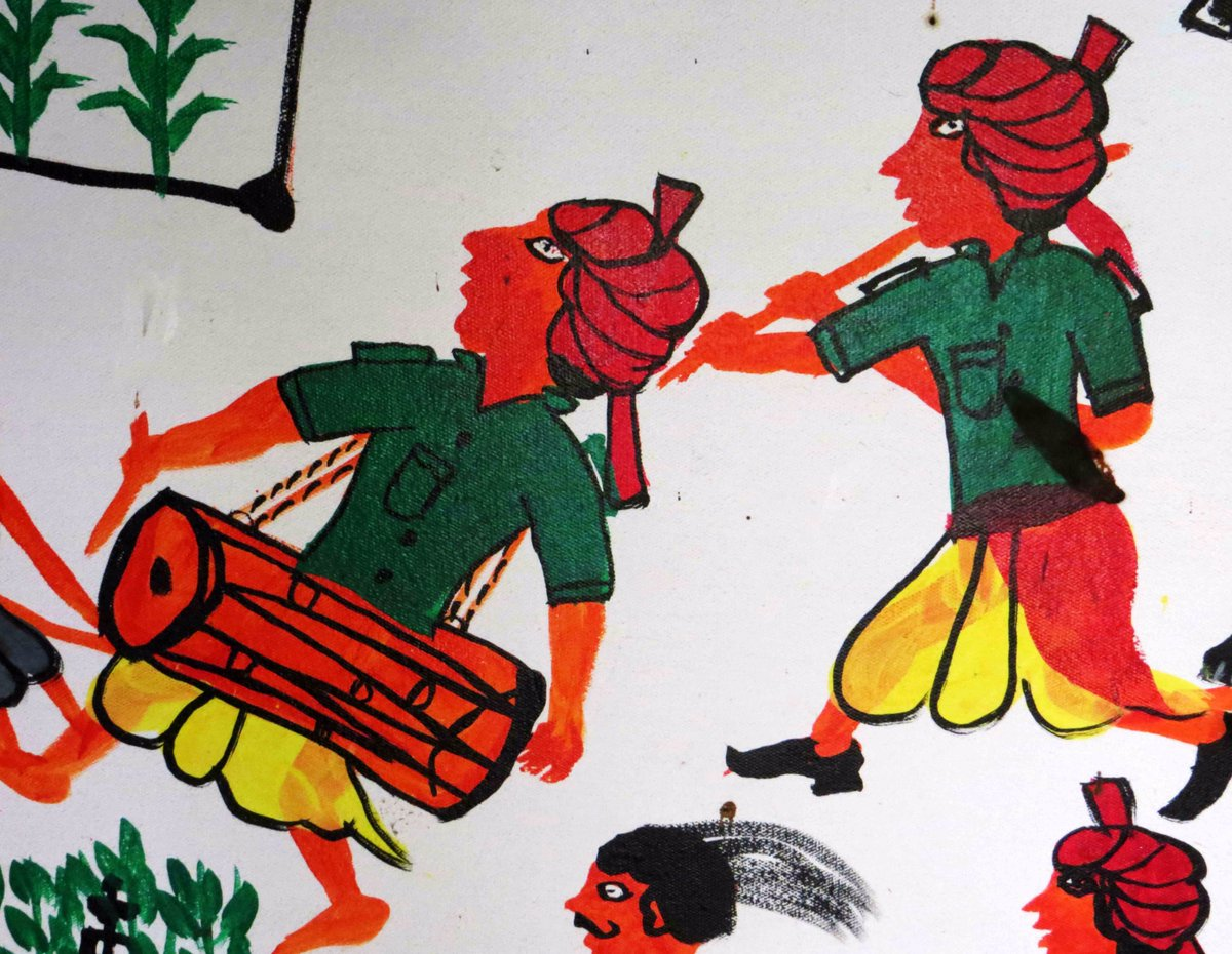 """Sahapedia on Twitter: """"The Pithora wall paintings of the #Rathva #Adivasis  of #Gujarat are a kaleidoscope of colour. https://t.co/FgQgw0g4ct #Pithora  #Painting… https://t.co/Vwc3LgX8g8"""""""