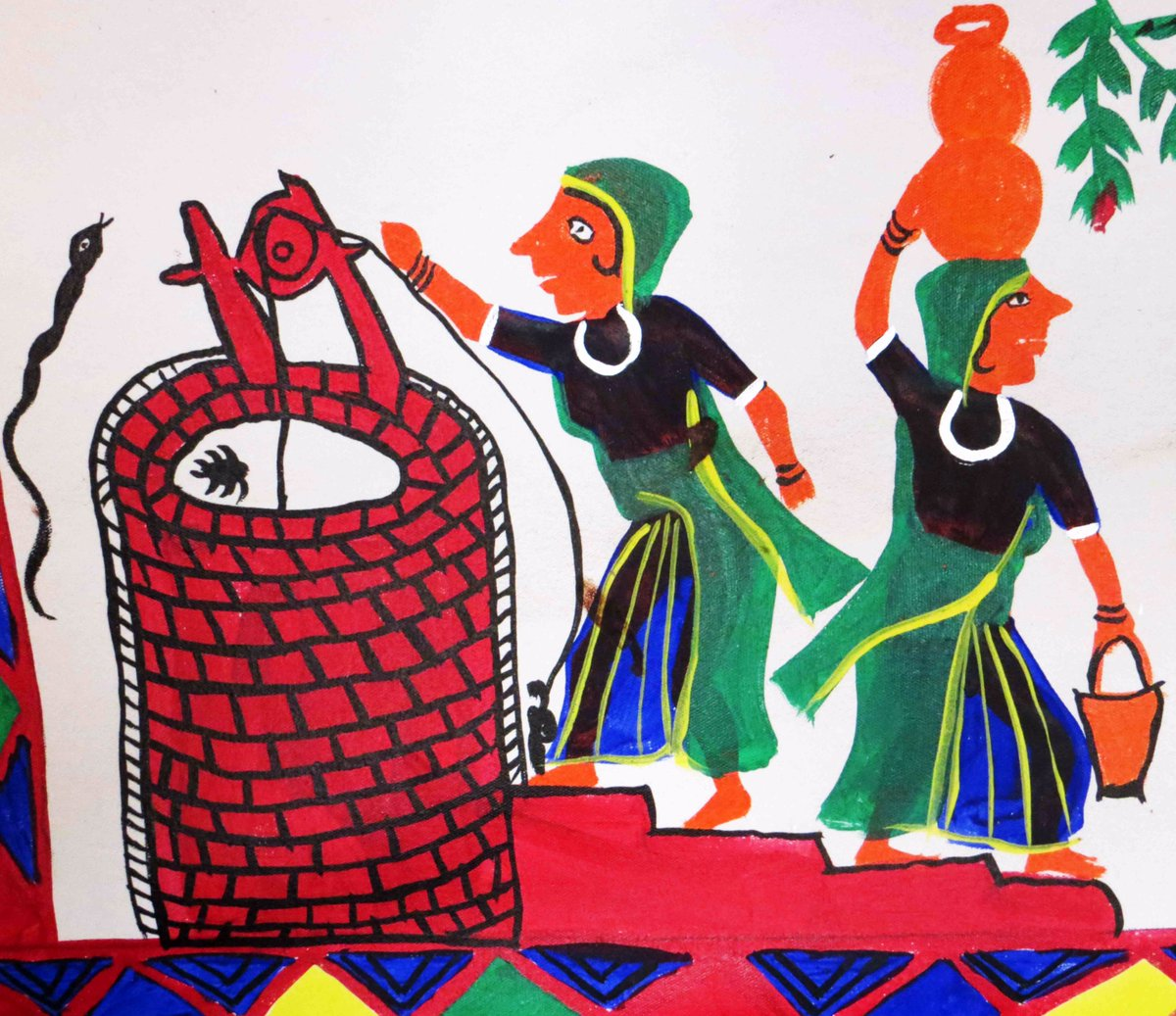 """Sahapedia on Twitter: """"The Pithora wall paintings of the #Rathva #Adivasis  of #Gujarat are a kaleidoscope of colour. https://t.co/FgQgw0g4ct #Pithora # Painting… https://t.co/Vwc3LgX8g8"""""""