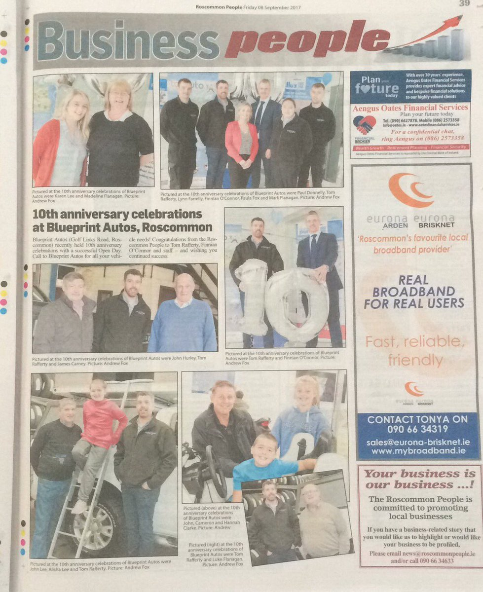 Blueprint autos on twitter we made the paper this week blueprint autos on twitter we made the paper this week roscommonpeople 10yearanniversary openday blueprintautos malvernweather Image collections