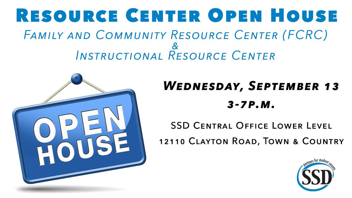 Ssd St Louis County On Twitter The Ssd Resource Center Open House