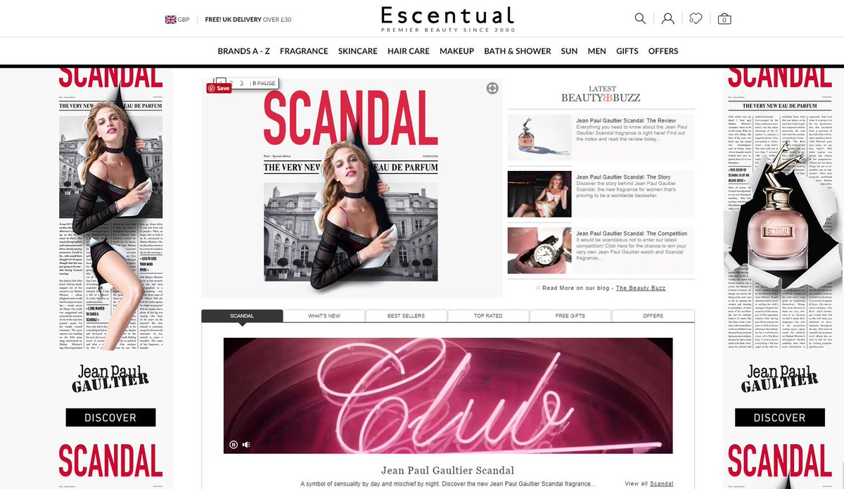 Image result for Escentual Website